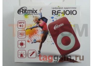 MP3 плеер RITMIX RF-1010 (слот MicroSD+наушники+кабель для зарядки), красный