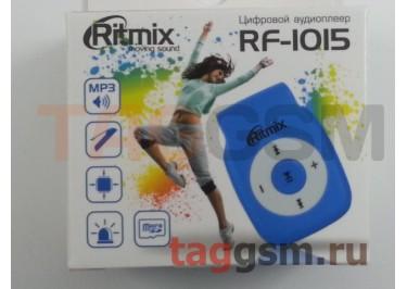 MP3 плеер RITMIX RF-1015 (слот MicroSD+наушники+кабель для зарядки), синий