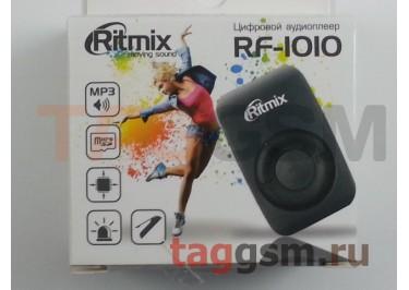 MP3 плеер RITMIX RF-1010 (слот MicroSD+наушники+кабель для зарядки), серый