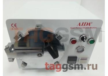 Барокамера (автоклав) с компрессором для склейки дисплейного модуля, AIDA A-505 (диаметр 15,5см; глубина 17см)