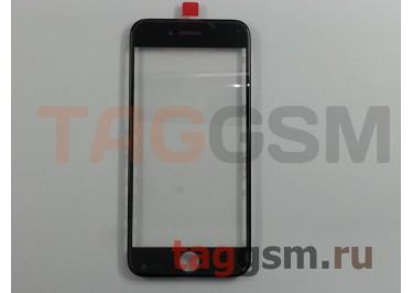 Стекло + OCA + рамка для iPhone 7 (черный), (олеофобное покрытие) ААА