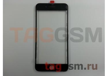 Стекло + OCA + рамка для iPhone 7 Plus (черный), (олеофобное покрытие) ААА