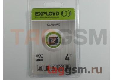 Micro SD 4Gb Exployd Class 4 без адаптера