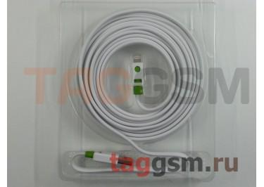 USB для iPhone 6 / iPhone 5 / iPad4 / iPad Mini / iPod Nano (в коробке) белый 3m, Premium