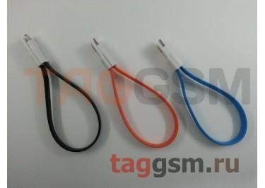 USB для iPhone 6 / iPhone 5 / iPad4 / iPad Mini / iPod Nano плоский с магнитом (20см), в ассортименте
