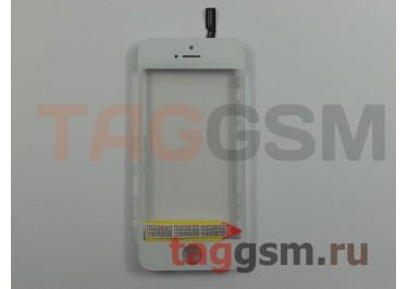 Стекло + тачскрин + рамка для iPhone 5S / SE (белый), (олеофобное покрытие) ААА