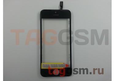 Стекло + тачскрин + рамка для iPhone 5S / SE (черный), (олеофобное покрытие) ААА