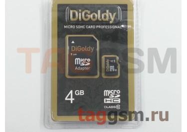 Micro SD 4Gb DiGoldy Class 10 с адаптером SD