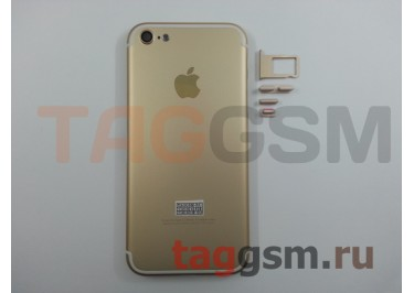Задняя крышка для iPhone 5 (золото) (дизайн iPhone 7)