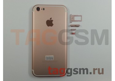 Задняя крышка для iPhone 5 (розовое золото) (дизайн iPhone 7)
