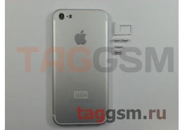Задняя крышка для iPhone 5 (серебро) (дизайн iPhone 7)