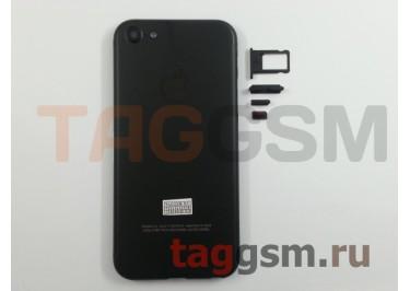 Задняя крышка для iPhone 5 (черный) (дизайн iPhone 7)