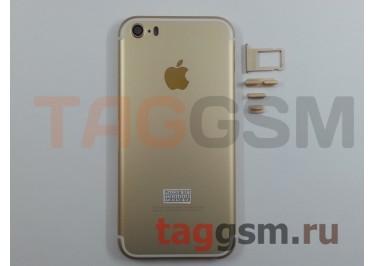 Задняя крышка для iPhone 5S (золото) (дизайн iPhone 7)