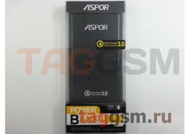Портативное зарядное устройство (Power Bank) (Aspor Q389), USB 3.0 / Type-C Емкость 10000mAh (черный)