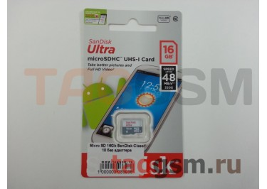 Micro SD 16Gb SanDisk Class 10 без адаптера