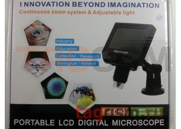 Микроскоп G600 (портативный, цифровой, с ЖК экраном, 1-600X, 3.6MP)
