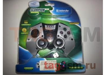 Геймпад Defender SCORPION RS3, Беспроводной, радиус действия до 10м, 2 дж, 12кн, USB-PS3