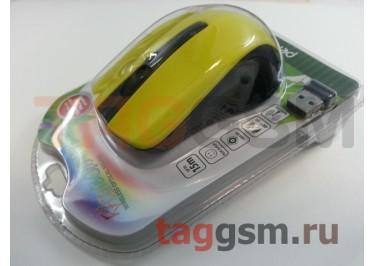Мышь беспроводная Perfeo (черно-желтая)