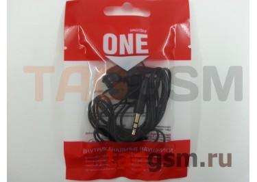 Наушники внутриканальные SmartBuy ONE (SBE-100) / 400, черные