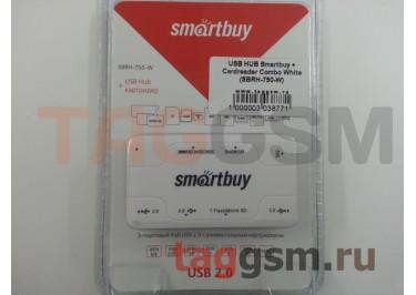 USB HUB Smartbuy + Cardreader Combo White (SBRH-750-W)
