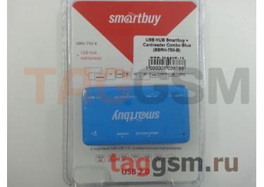 USB HUB Smartbuy + Cardreader Combo Blue (SBRH-750-B)