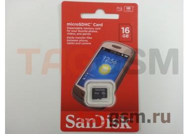 Micro SD 16Gb SanDisk Class 4 без адаптера