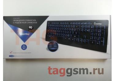 Клавиатура проводная Smartbuy мультимедийная с подсветкой 303 USB Black (SBK-303U-K)