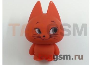Колонка Perfeo портативная Music Cat, 3.5мм, 600мАч, красная кошечка (PF-MC07RO)