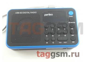 Колонка Perfeo портативная Music Sound Voyager, УКВ+FM, MP3, цифровые кнопки, BL-5C 600mAh, синяя (PF-SV521-B
