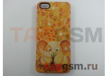 """Задняя накладка Colicoli для iPhone 5 (оранжевая """"Слоник"""")"""