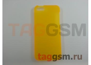 Задняя накладка Ensi для iPhone 5 0,8mm (жёлтая)