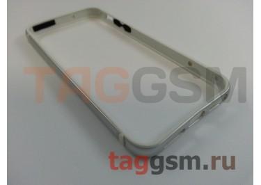 Бампер для iPhone 5 / 5S / SE (металлический, (серебро) Fashion Case
