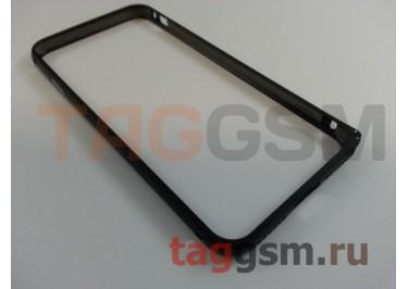 """Бампер для iPhone 7 (4.7"""") (металлический, черный)"""