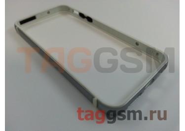 Бампер для iPhone 5 / 5S / SE (металлический, (серый) Fashion Case