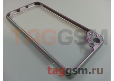 "Бампер Fashion Case для iPhone 6 (4.7"") металлический (розовый)"