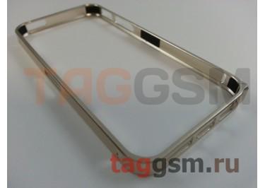 Бампер для iPhone 5 / 5S / SE (металлический, золотой)
