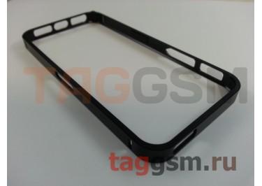 Бампер для iPhone 5 / 5S / SE (металлический, черный)