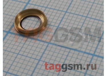 Стекло задней камеры + вспышки для iPhone 6 Plus / 6S Plus (золото)