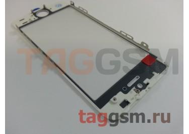 Стекло + OCA + рамка для iPhone 5S (белый), (олеофобное покрытие) ААА