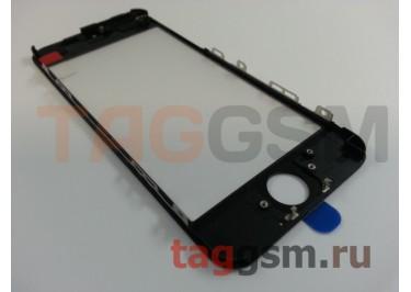 Стекло + OCA + рамка для iPhone 5C (черный), (олеофобное покрытие) ААА