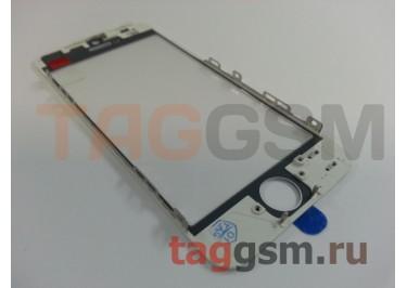 Стекло + OCA + рамка для iPhone 5 (белый), (олеофобное покрытие) ААА