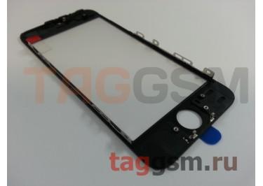 Стекло + OCA + рамка для iPhone 5S (черный), (олеофобное покрытие) ААА