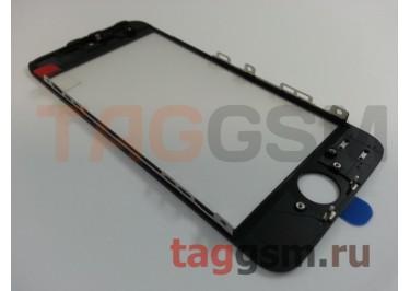 Стекло + OCA + рамка для iPhone 5 (черный), (олеофобное покрытие) ААА