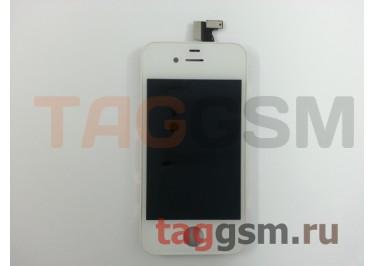 Дисплей для iPhone 4 + тачскрин белый AAA