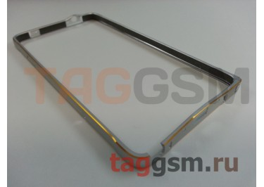 Бампер для Samsung N910C Galaxy Note 4 (серебро)