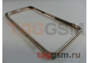 Бампер для iPhone 6 / 6S Plus (5.5) (металлический, золотой) Fashion Case