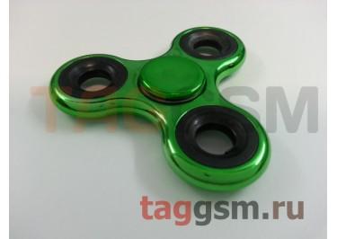 Спиннер трехлучевой (хром) (зеленый)