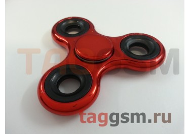 Спиннер трехлучевой (хром) (красный)
