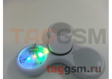 Спиннер трехлучевой (светящийся LED) (белый) тип1