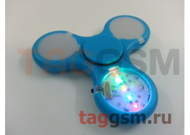 Спиннер трехлучевой (светящийся LED) (голубой) тип1
